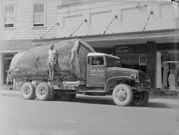 100 Truck Stores FileImage Of A Truck Carrying A Kauri Log Parked On The Side Of A