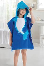 Cute Baby Bathrobe Anmial Style Ladybug Kids Bathing Bath Robe Swimming 5 Color LW
