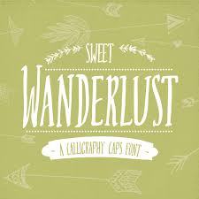 Digital Font Download Sweet Wanderlust