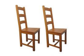 chaise en ch ne massif chaise en bois la bresse lot de deux hellinchaise de salle à