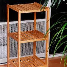 badregal bambus mit 3 ablagen hbt 79 x 33 x 33 cm schickes standregal aus natürlichem holz bambusregal als küchenregal oder holzregal zur
