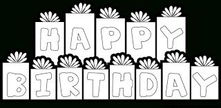 Black And White Happy Birthday Clip Art Free Clipartfox Clipartbarn with regard to Happy Birthday