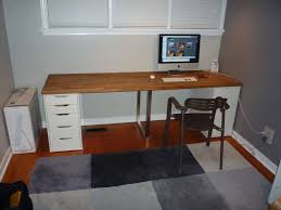 Wall Mounted Desk Ikea Hack by Furniture Modern Home Office Design With Floating Desk Ikea