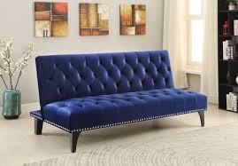 Tufted Velvet Sofa Furniture by Royal Blue Velvet Tufted Sofa Bed Futon Caravana Furniture