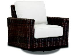 Sunset West Montecito Wicker Swivel Rocking Club Chair
