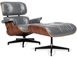 Replica Eames Lounge Chair - Vintage Grey   CHICiCAT Classic Eames Lounge Chair Ottoman White Leather Walnut The Style With Vintage Replica Dark Tan Chicicat Fabric Fniture Room Design Lounche Awesome More Finest Ea Original Sold Office Ideas Vitra Snow Chrome Base Sothebys Home Designer George Mulhauser Mr Black Armchair Porn Dwell Framed Print Art Decor Patent Earth