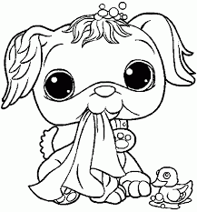 Littlest Pet Shop Printable Coloring Pages Of