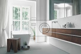 fototapete moderne helle sonnige weiße badezimmer interieur