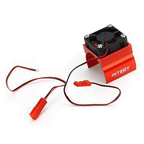 Integy RC Hobby Super Brushless Motor Heatsink Cooling Fan - Red