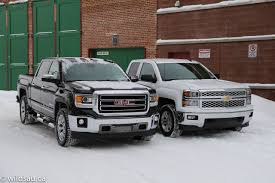 Review: 2014 Chevy Silverado And GMC Sierra | Wildsau.ca Gmc Comparison 2018 Sierra Vs Silverado Medlin Buick F150 Linwood Chevrolet Gmc Denali Vs Chevy High Country Car News And 2017 Ltz Vs Slt Semilux Shdown 2500hd 2015 Overview Cargurus Compare 1500 Lowe Syracuse Ny Bill Rapp Ram Trucks Colorado Z71 Canyon All Terrain Gm Reveals New Front End Design For Hd