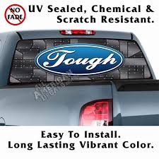 Eagle Truck Decals Ford Tough Black Riveted Back Window Graphic ... 2015 2016 2017 2018 2019 Ford F150 Stripes Lead Foot Special Is The Motor Trend Truck Of Year 52019 Torn Bed Mudslinger Style Side Vinyl Wraps Decals Saifee Signs Houston Tx Racing Frally Split Amazoncom Rosie Funny Chevy Dodge Quote Die Cut Free Shipping 2 Pc Raptor Side Stripe Graphic Sticker For Product Decal Sticker Stripe Kit For Explorer Sport Trac Rad Packages 4x4 And 2wd Trucks Lift Kits Wheels American Flag Aftershock Predator Graphics Force Two Solid Color 092014 Series