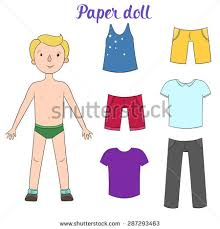 Paper Doll Clothes Stock Images