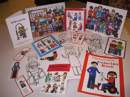 With Harmons Help And Input She Drew Different Images Of Children In Wheelchairs Using Walkers Sent Them To A Printer