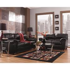 American Freight 7 Piece Living Room Set by Signature Design By Ashley Commando Leather Living Room Set