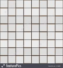3D White Tile Pattern
