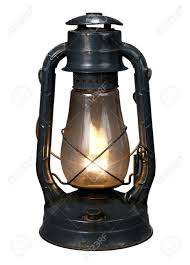 Calcium Carbide Lamp Fuel by Lit Antique Oil Lamp With Clipping Path Stock Photo Picture And