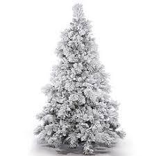 Vickerman 75 Flocked Alberta Artificial Christmas Tree Unlit