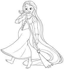 Princess Coloring Pages Rapunzel Print Out 773x