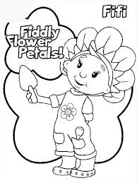 Fiddly Flower Petals In Fifi And The Flowertots Coloring Pages