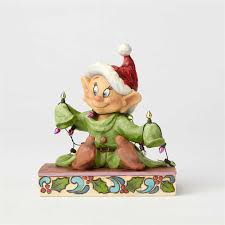 Disney Tinkerbell Light Up Christmas Tree Topper by Light Up The Holidays Dopey With Christmas Lights Figurine