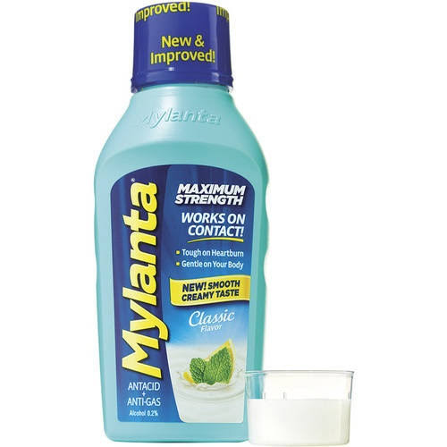 Mylanta Maximum Strength Classic Flavor Antacid + Anti-Gas - 355ml