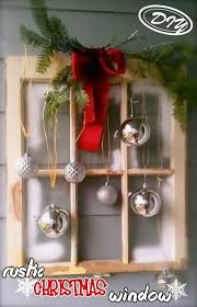 Diy Rustic Christmas Window Top Easy Interior Design