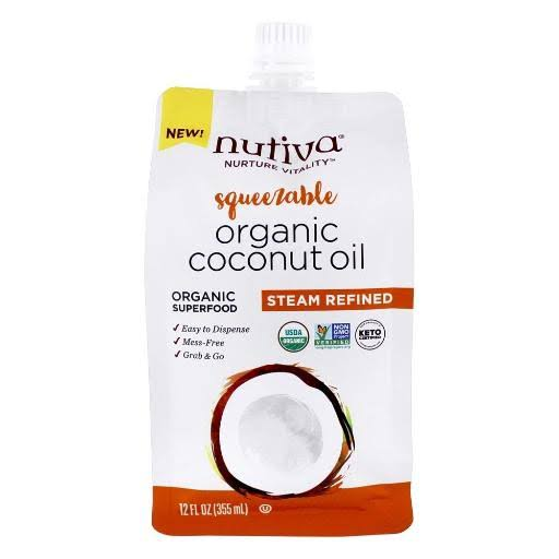 Nutiva Organic Coconut Oil Steam Refined 12 fl oz