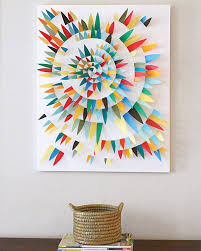 Diy Wall Art Projects View In Gallery Paper Scrap 3d Ideas To Decorates Your Rooms