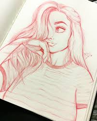 Brilliant Ideas Of Cute Pinterest Girl Drawn By Christina Lorre Creative California Outline Tumblr