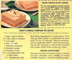 Libbys Pumpkin Roll Recipe by Libby Pumpkin Pie Recipe Large Can