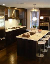 Espresso Kitchen Cabinets With Wood Floors Exciting Home Office Decor Ideas