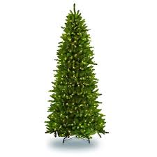 Puleo International 10 Ft Pre Lit Slim Fraser Fir Artificial Christmas Tree 900 UL Listed