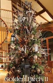 Melrose Designer Christmas Tree 2013 Golden Birch II Rustic