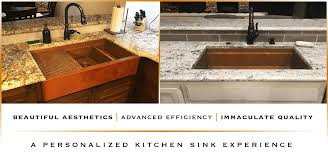 Retrofit Copper Apron Sink by Custom Copper Sinks Made In Usa Havens Metal