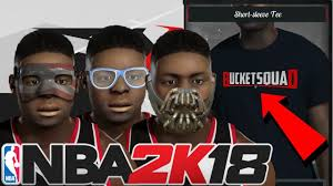 new accessories in nba 2k18 face mask goggles custom shirts