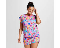 plus size lisa frank tee u0026 shorts pajamas set lisa frank pajamas