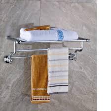 Bathroom Towel Bar With Shelf by Bathroom Perfect Solution For Bathroom Storage By Using Towel