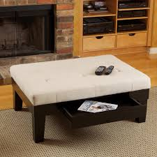 Coffee Table Modern Designer Ottoman Coffee Table Fabric Round