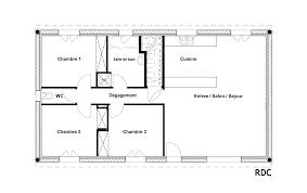 plan maison 90m2 plain pied 3 chambres plan maison plain pied 100m2 3 chambres une maison