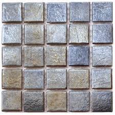 tivoli iridescent glass tile series black gold blend pool tile