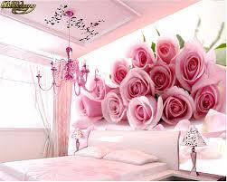 beibehang 3d foto tapete für schlafzimmer rosa stereoskopischen blume romantische wohnzimmer schlafzimmer wandbild wand papier