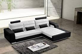 sam design ecksofa new york in weiß schwarz bequeme