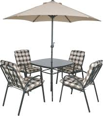 Fleet Farm Patio Furniture Cushions by 4 Seater Garden Patio Furniture Set Outdoor Table Parasol Chairs