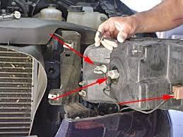 ford f150 f250 how to change headlight bulb ford trucks