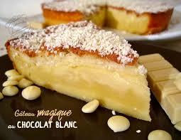 recette avec des oeufs dessert gâteau magique au chocolat blanc il était une fois la pâtisserie