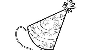 birthday hat coloring page no birthday party is plete without a party hat your will love birthday hat