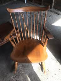 Antique Oak High Back Spindled Rocking Chair. What Is It ... Fding The Value Of A Murphy Rocking Chair Thriftyfun Black Classic Americana Style Windsor Rocker Famous For His Sam Maloof Made Fniture That Vintage Lazyboy Wooden Recliner Unique Piece Mission History And Designs Homesfeed Early 20th Century Chairs 57 For Sale At 1stdibs How To Make A Fs Woodworking 10 Best Rocking Chairs The Ipdent Best Cushions 2018 Restoring An Old Armless Nurssewing Collectors Weekly Reviews Buying Guide August 2019