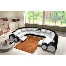 canapé cuir en u canape cuir panoramique maison design wiblia com