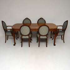 Furniture Dining Room Exciting Antique Walnut Set Chairs ...