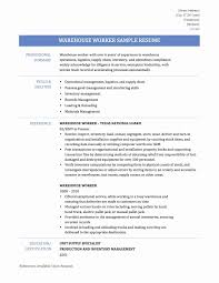 Cover Letter Warehouse Jobs Resume Sample Resumes For Warehouse ...